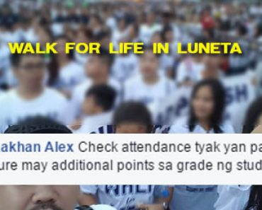 Walk For Life in Luneta, compulsory?