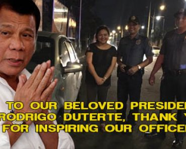 Woman motorist thanks Duterte