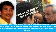 open letter to Jim Paredes