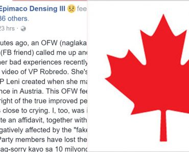 Canada-based OFW complains about bad experiences in workplace due Leni Robredo video