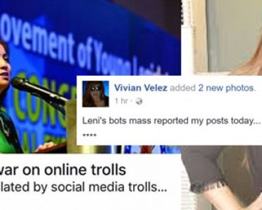 Leni Robredos war on trolls has begun