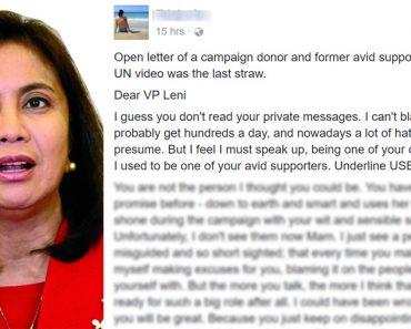 Robredo campaign donor remorseful in open letter