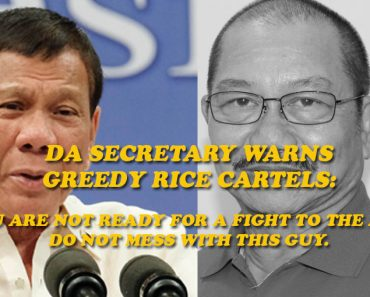 Agriculture Secretary warns rice cartels