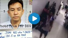 CCTV video shows Jun No escape from police