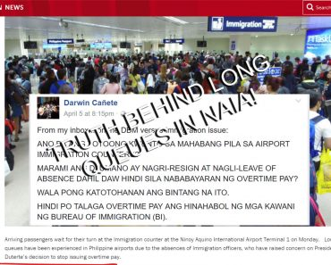 Truth about long queues in NAIA