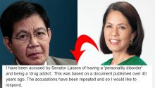 Gina Lopez responds to Lacson's accusation she has personality disorder, drug addict