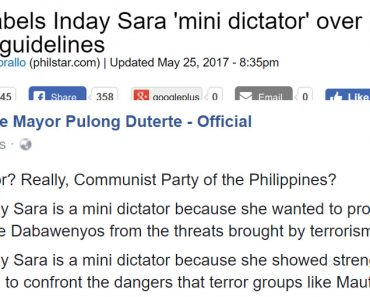 Paulo Duterte reacts to NPA calling Sara mini dictator