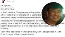 Duterte blogger slams critics who rejoiced upon Duterte's 5 day disappearance