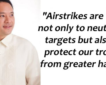 Gibo Teodoro's message to armchair analysts oppose to air strikes