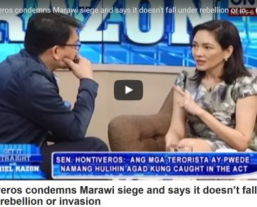 Hontiveros says terrorist cannot be arrested unless caught in the act