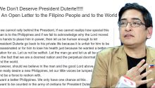 Open Letter to Filipinos and the world