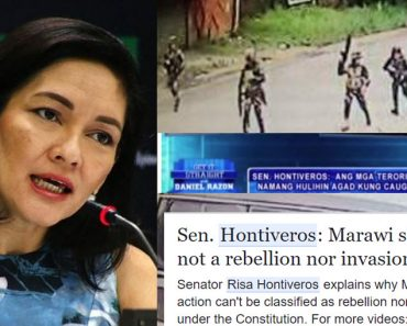 Proof Hontiveros is wrong that Maute siege of Marawi is neither an invasion nor a rebellion