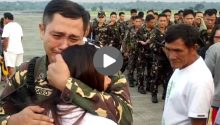 Soldiers emotional farewell with family caught on video