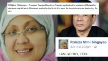 Maranao doctor says sorry to Duterte