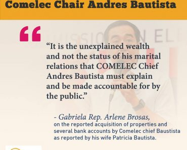 Gabrielas reaction on Andres Bautista controversy