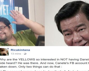 Heres the answer why Yellows want to silence Atty Canetes FB