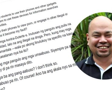 La Salle prof explains why Duterte is not blame on Kians death