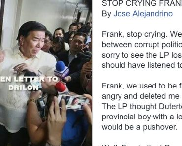 Open Letter to Drilon