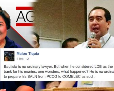 Political analyst surprised friend Andres Bautista entrust his millions to unknown bank