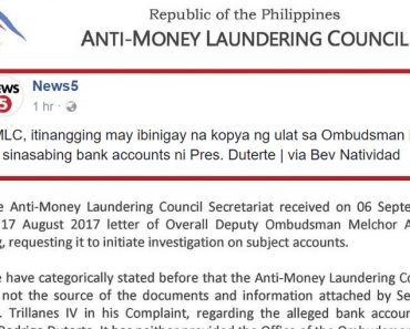 AMLC on Trillanes documents