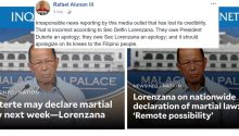 Alunan slams PDI for fake news about Martial law