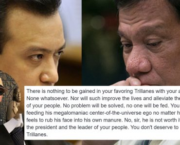 Open letter to Duterte