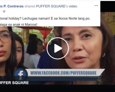 Robredo ridiculed for statement Marcos holiday a national holiday