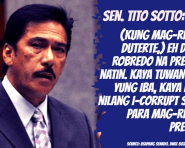 Sotto says senator colleagues wants to become VP