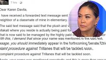 open letter to Karen Davila