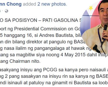 Atty Chiong versus Comelec Chairman Bautista