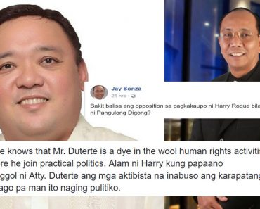 Jay Sonza on Harry Roques appointment