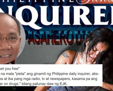 Jay Sonza reacts to Pieta-like photo of Inquirer