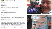convo between Taiwanese and Filipino photographer