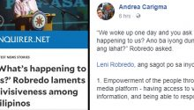 Dr Andrea Carigma responds to Leni Robredo question