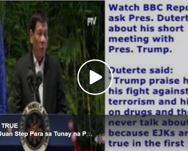 Duterte reports to BBC his meeting with Trump