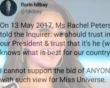 Hilbay says he is not rooting for Miss Philippines in Ms Universe
