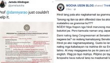 Mocha Uson responds to criticism of her English grammar