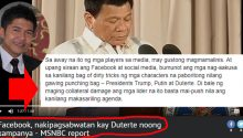 Atty Glenn Chong on Facebook helping Duterte