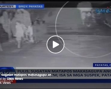 CCTV shootout between riding in tandem and policeman