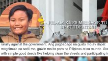 FIl-Am kids message to UP students