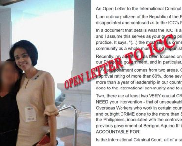 Open Letter to ICC