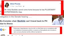Doctor doubts Bautista cant come home because of pulmonary hypertension