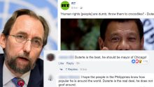 Duterte versus UN High Commissioner
