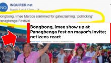 Inquirer says Marcoses gatecrashed Panagbenga