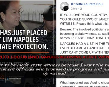 Janet Napoles as state witness