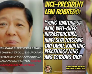 Marcos response to well-oiled infrastructure statement