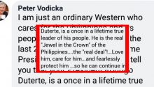 Peter Vodicka message to Filipinos