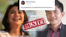 Glenn Chong sees trouble for Robredo camp