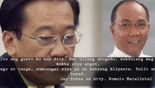 Jay Sonza on Atty Romulo Macalintal