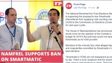 Namfrel supports ban of Smartmatic in 2019 election